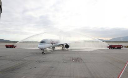 Qatar Airways brings A350 to Greece for first time
