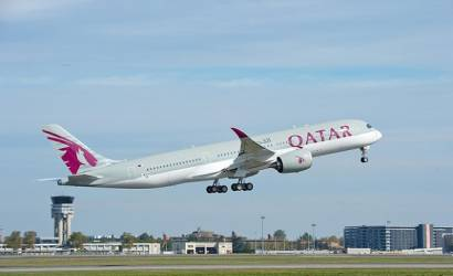 Qatar Airways first A350 XWB takes to the skies over France