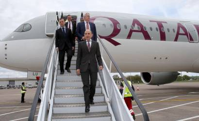 Qatar Airways touches down in Wales for first time