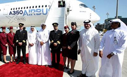 Qatar Airways welcomes Airbus A350 to Doha