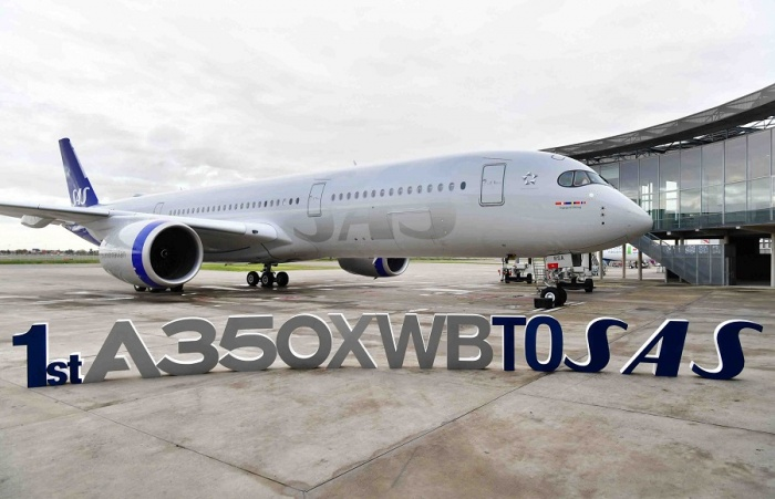 SAS takes delivery of first Airbus A350-900