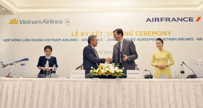 Vietnam Airlines signs comprehensive strategic partnership with Air France