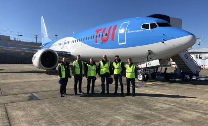 TUI welcomes bio fuel powered 737 MAX delivery flight