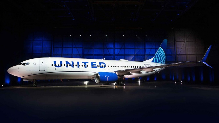 United Airlines unveils new livery in United States