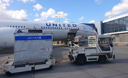 United Airlines cargo-only flights arrive at Heathrow