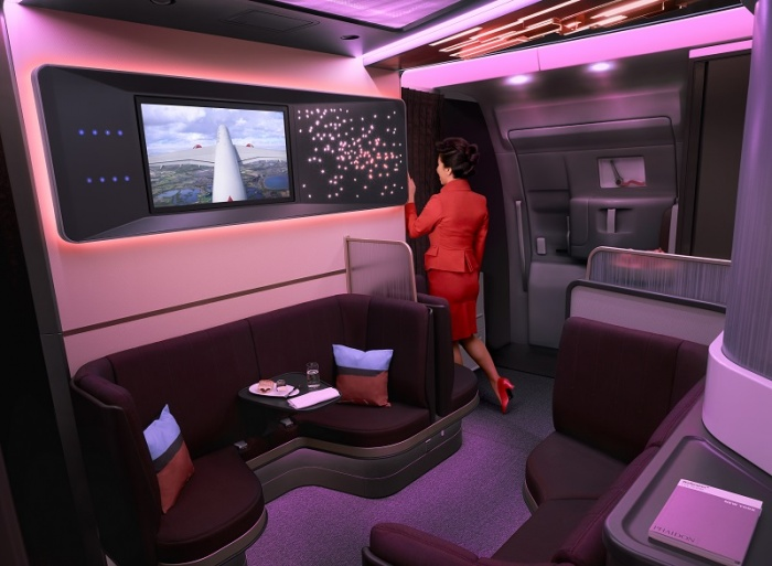 Virgin Atlantic unveils new Upper Class cabin for Airbus A350