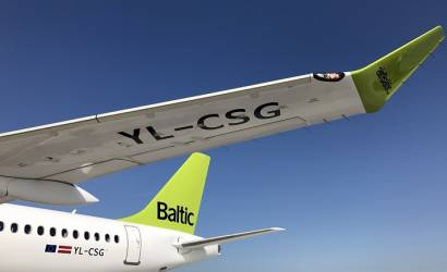 airBaltic welcomes latest Bombardier CS300 to Riga
