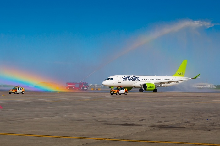 airBaltic welcomes latest Bombardier CS300 jet to fleet