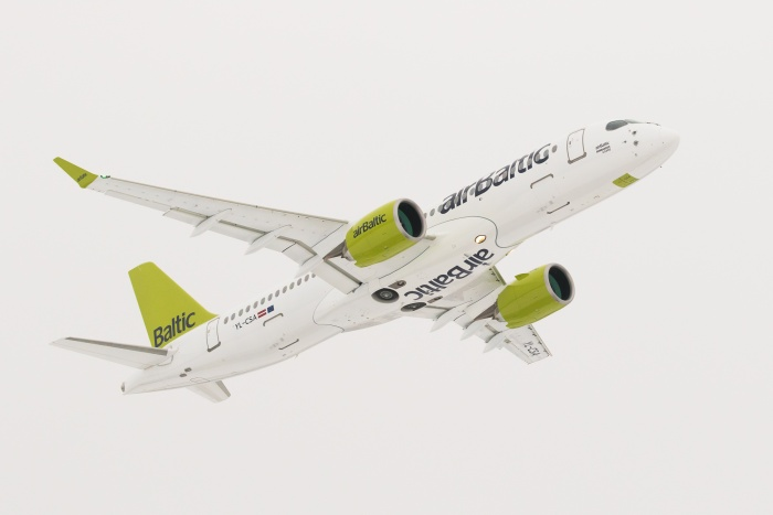 Bombardier CS300 roll-out drives passenger increases at airBaltic