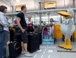 Lufthansa opens new family check-in counters