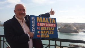 Ryanair launches new route from Belfast to Malta