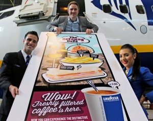 Ryanair rolls out new onboard menu