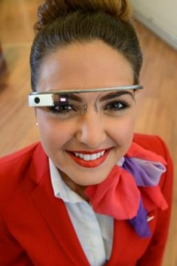 Virgin atlantic first in world to use Google Glass