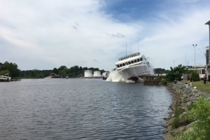 American Constitution launches into Wicomico River, USA