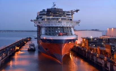 Celebrity Edge floats out in France ahead of November debut