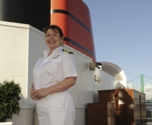 Cunard Line's first female captain brings Queen Victoria back to Los Angeles