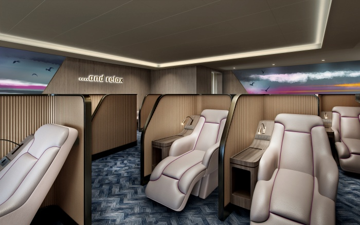 DFDS reveals new Relax Lounge onboard Dunkerque Seaways