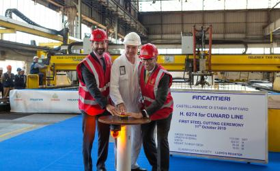 Steel cutting ceremony for latest Cunard vessel