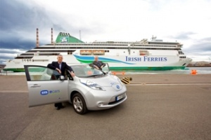 Irish Ferries offers free on-board electric car charge points