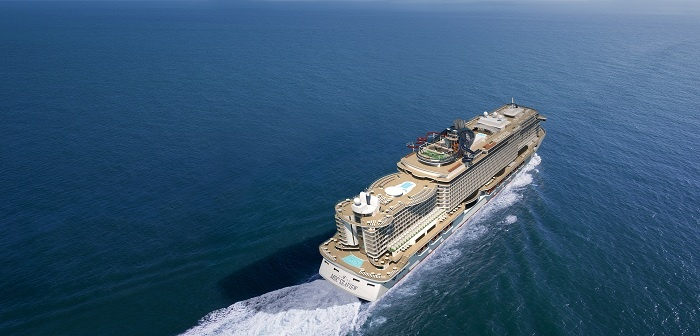 MSC Seaview celebrates float out in Italy
