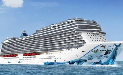 NCL celebrates first steel cutting for Norwegian Bliss