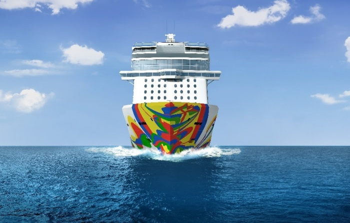 Arranz-Bravo designed hull artwork for Norwegian Encore unveiled