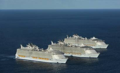 World's three largest cruise ships sail together for first time