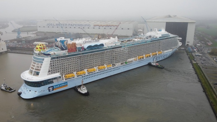 Odyssey of the Seas floats out in Germany ahead of 2021 debut