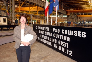 P&O begins construction on Britain's largest cruise ship