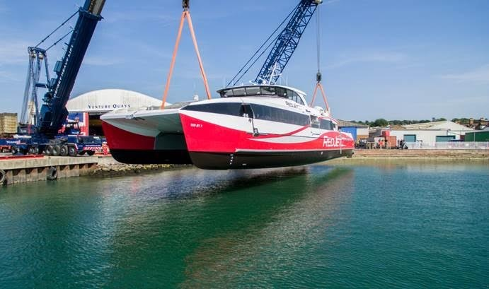 Red Jet 7 takes to water for first time