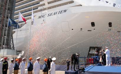MSC Seaview delivered by Fincantieri in Italy