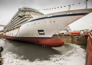 Viking Sky floats out for first time