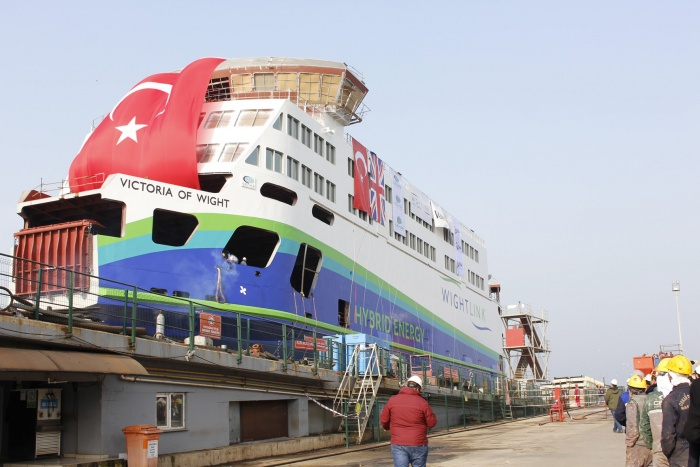 News: Victoria of Wight floats out for first time