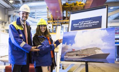 Carnival Cruise Line cuts first steel for largest ever ship