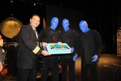 Blue Man Group celebrates Its 500th performance at sea on Norwegian Epic