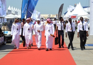 Royal Jet flies into Abu Dhabi Air Expo 2014
