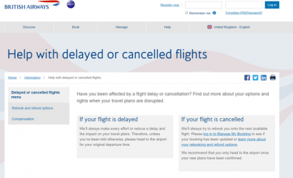 British Airways launches new online help centre for delayed passengers