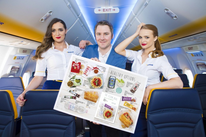 Ryanair broadens range of onboard menu