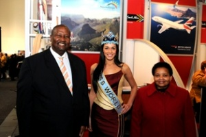 Miss World cheers on South Africa at ITB