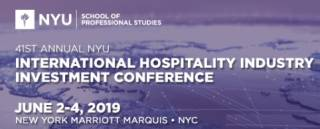 NYU International Hospitality Industry Investment Conference 2019