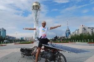 The first participant of The Sun Trip cycling race arrived in Astana
