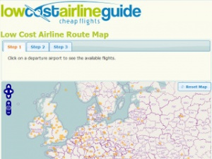 New Interactive Route Map by the Low Cost Airline Guide