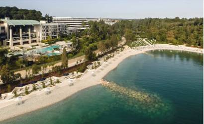 New beach club at Hotel Lone in Croatia