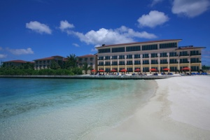 Hulhule Island Hotel welcomes guests to the Maldives