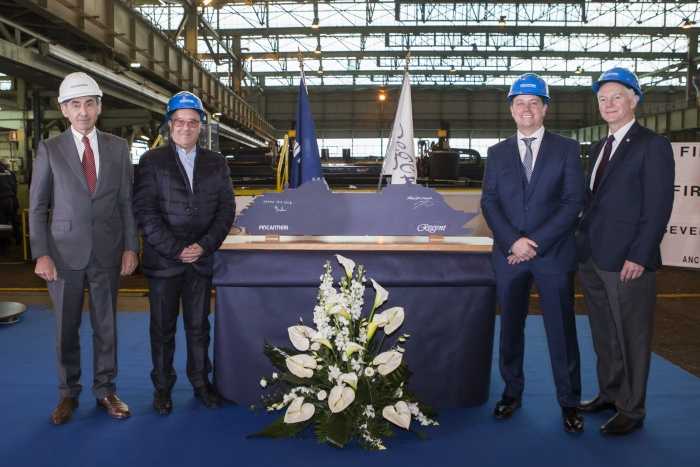 First steel cut for Seven Seas Splendour in Italy