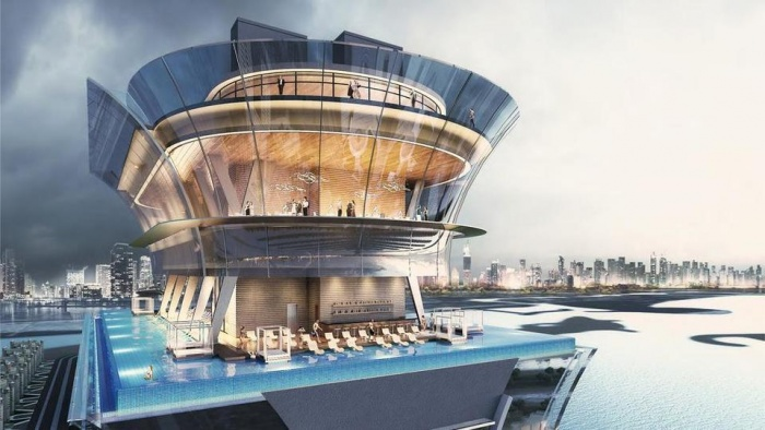 Nakheel begins work on infinity pool at The Palm Tower