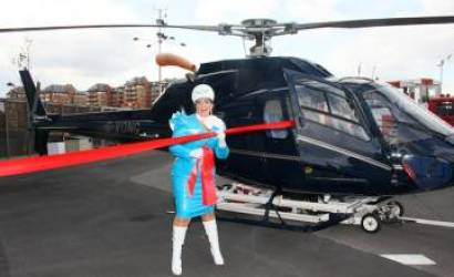 Hotel Verta & The London Heliport unveiled by Pam Ann