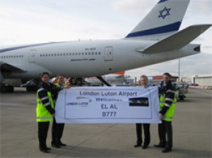 EL AL makes history at London Luton Airport