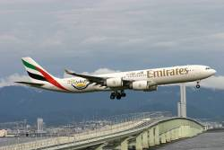 A first for Emirates as airline transports Arabic speaking humanoid