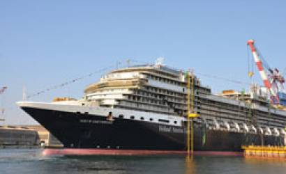 Nieuw Amsterdam floats out at Italian shipyard